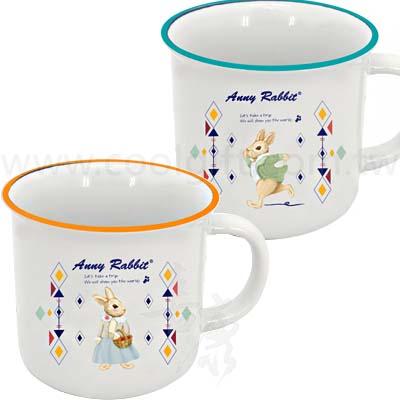 安妮兔仿琺瑯陶瓷杯2入組