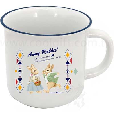 安妮兔仿琺瑯陶瓷杯400ml