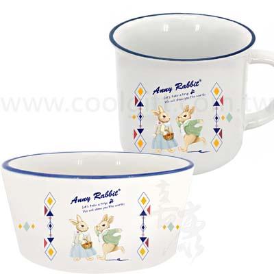 安妮兔陶瓷杯碗組