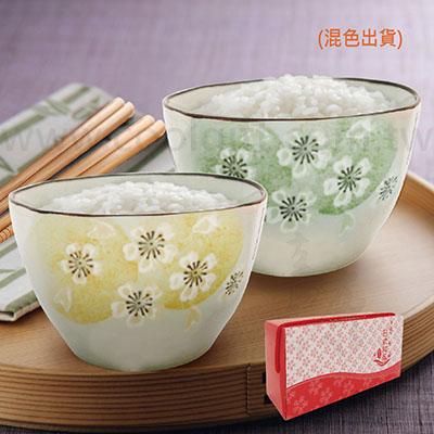 日式櫻花陶瓷二入碗組