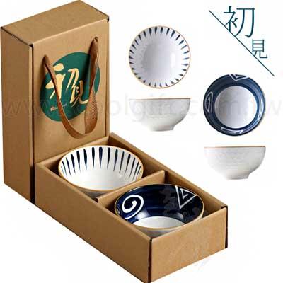 日系釉彩陶瓷碗2入組
