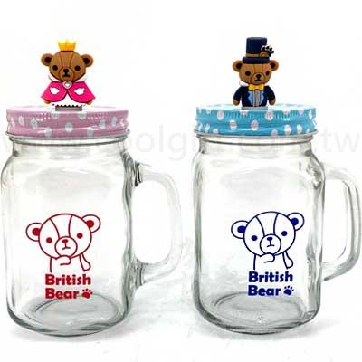英國熊皇家造型玻璃瓶(1入)