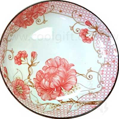 花開富貴2入陶瓷盤禮盒