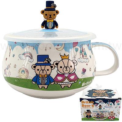 英國熊城堡胖胖微波陶瓷碗