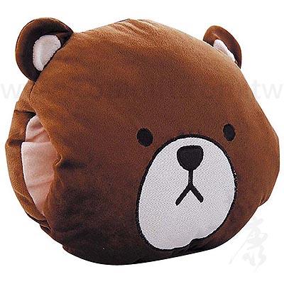 大頭熊暖手抱枕