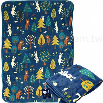 法國兔森林系冷氣毯