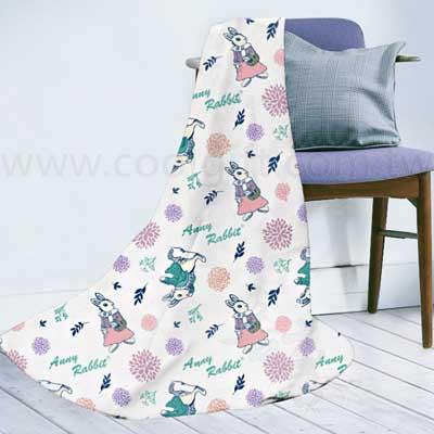 安妮兔花草冷氣毯