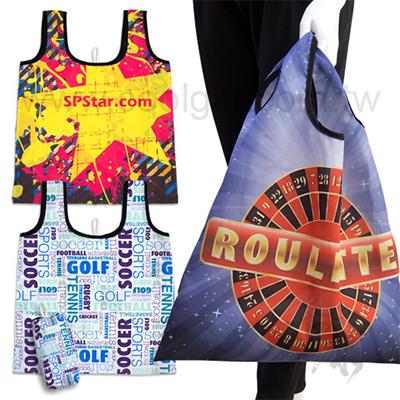 客製化全彩摺疊購物提袋(附收納袋)