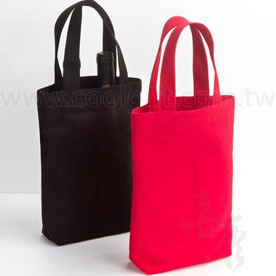 雙瓶裝素色帆布紅酒袋