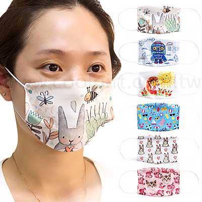 兒童吸濕排汗全彩客製口罩