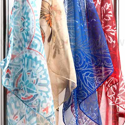 輕柔雪紡方形絲巾(全彩熱昇華)