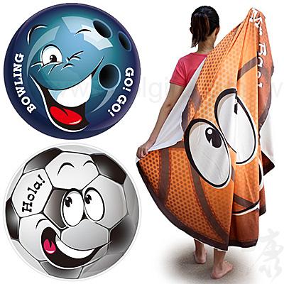 全彩超細纖維圓型運動毛巾