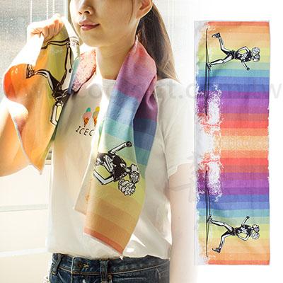 客製化滿版彩色印刷運動毛巾