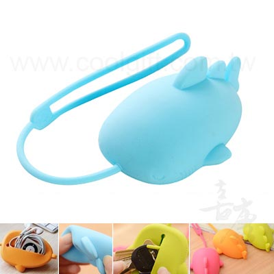鯨魚矽膠鑰匙包(收納包)